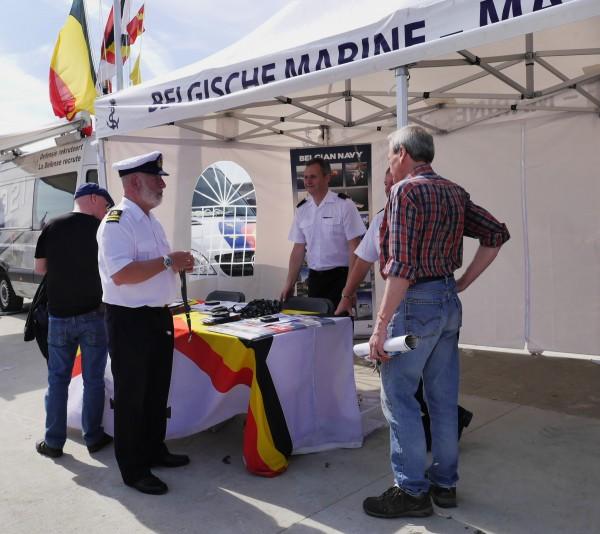 La Marine belge était là, bien entendu.
