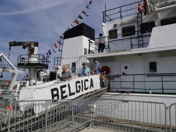 La Belgica, navire scientifique. Malheureusement, je suis arrivée trop tard pour la visiter.