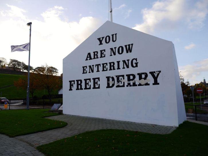 L'entrée de Bogside, London/Derry