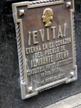 """Cimetière Recoleta, Buenos Aires : Tombe de Eva Peron dite """"Evita"""""""