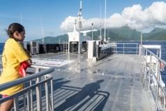 A bord du Aranui, le ferry qui relie Tahiti à Moorea