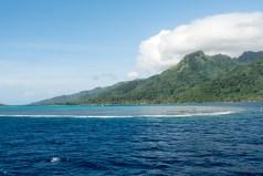 Vue de Moorea depuis l'Aranui