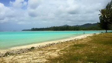 Huahine, plage de l'ancien Sofitel