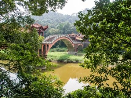 Sur le chemin du temple de Wouyu
