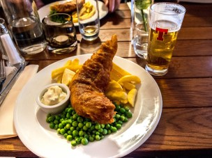 Fish and chips, the Loch Ness Inn