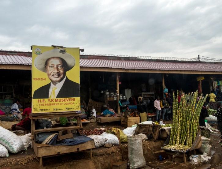 Yoweni Museveni, président d'Ouganda