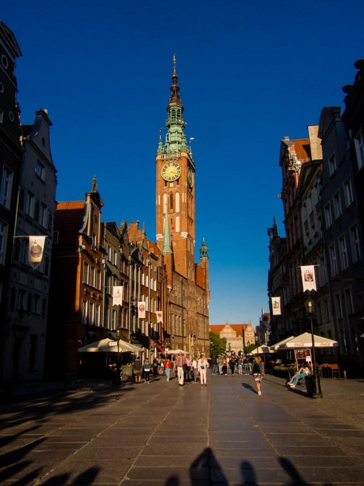 Gdansk, visiter la vieille ville ; La Rue Longue et l'Hôtel de ville