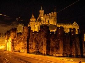 Château des Comtes de Flandre, la nuit