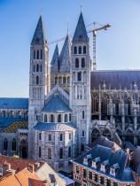 Vue sur la cathédrale Notre-Dame de Tournai depuis le beffroi