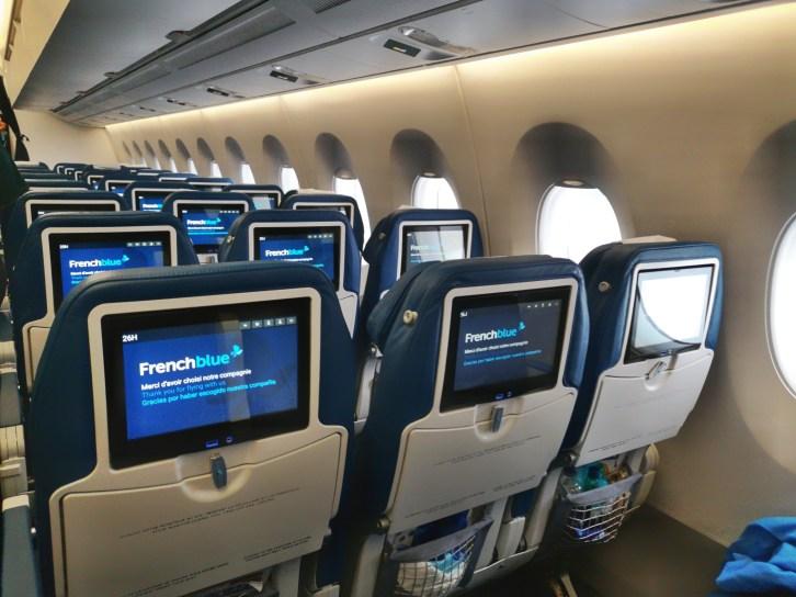A bords d'un avion French Blee pour Tahiti