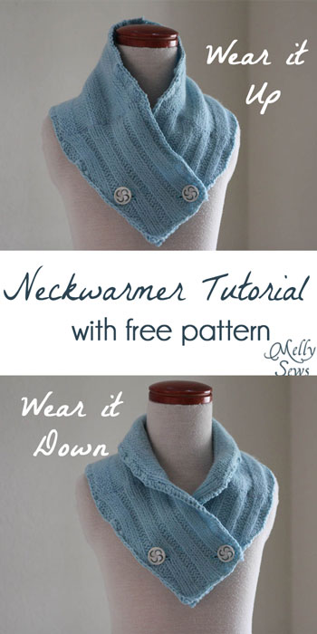 sew a neck warmer tutorial with free