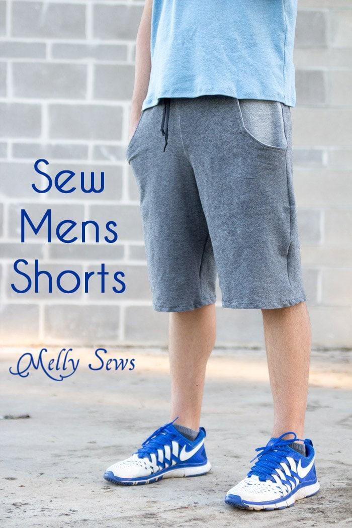 Mens Shorts Sewing Pattern : shorts, sewing, pattern, Shorts, Tutorial, Pockets, Melly