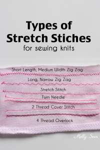Types of Stretch Stitches - Sewing Knits - Melly Sews