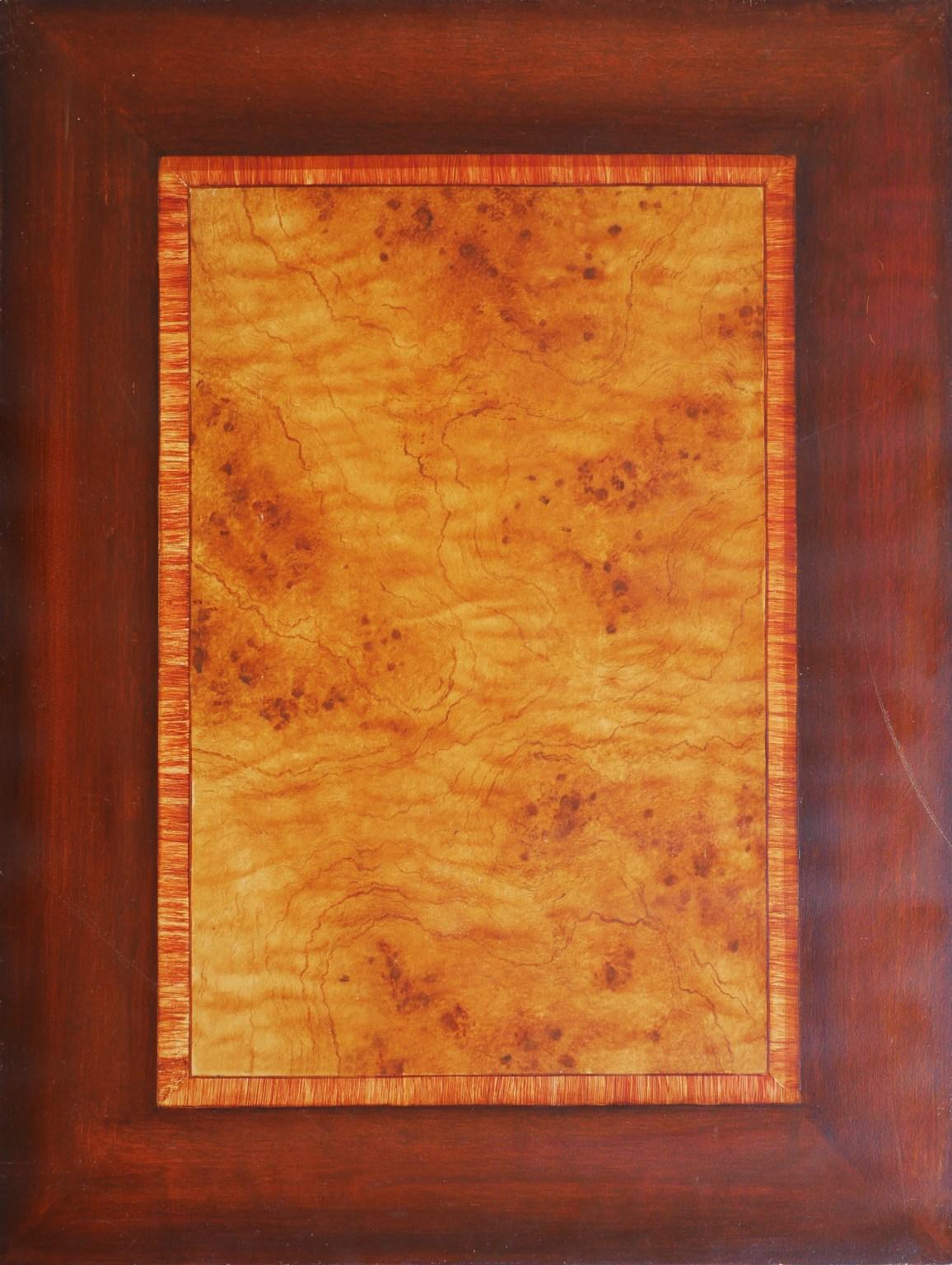 Décor imitation bois loupe et acajou, faux bois effet de matière. Assilem décors, peinture décorative, peintre en décor à Bordeaux