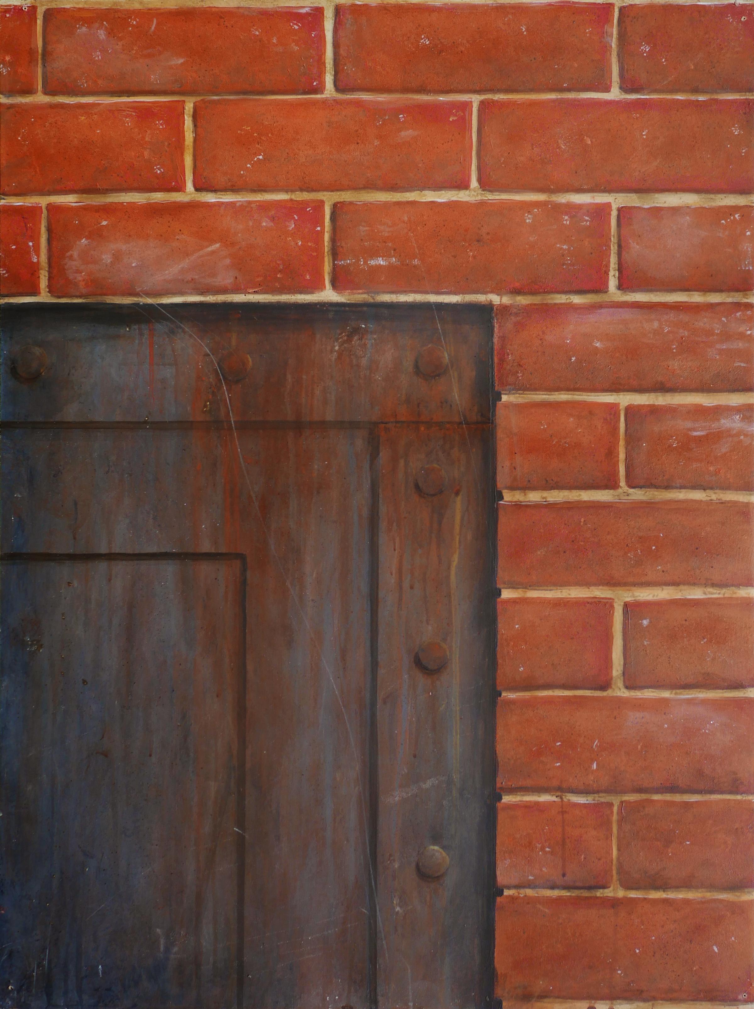 Décor imitation brique et rouille, effet de matière. Assilem décors, peintre décorateur, peintre en décor à Bordeaux