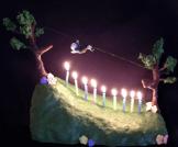Ziplining cake