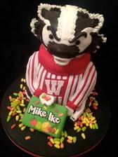 Bucky Badger cake