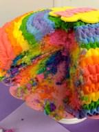 Rainbow tie-dye cake mix