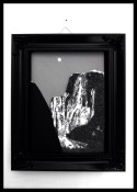 """Ansel Adams' """"Moon and Half Dome"""" done with chocolate"""
