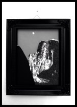 "Ansel Adams' ""Moon and Half Dome"" done with chocolate"