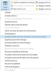La función Retrofit de SDL Trados Studio permite recuperar los cambios procedentes de los archivos de destino actualizados
