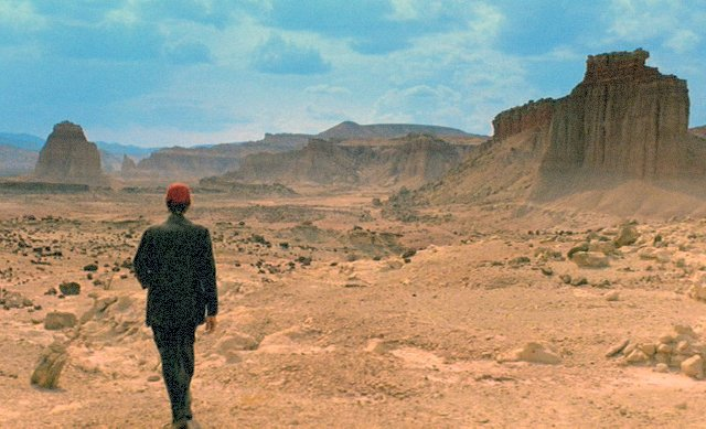 still from Paris, Texas (music by Ry Cooder)