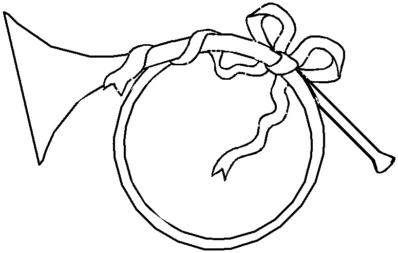Horn Instrument Coloring Page