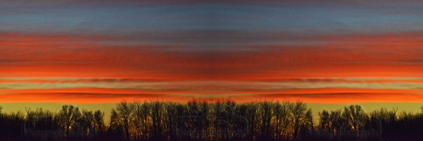 Brookside Sunrise - DSLR with mirrored digital effect