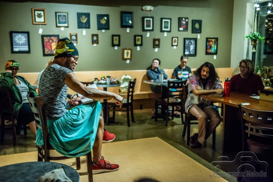 IconoclastPoetry Open Mic at 10 Johnson Avenue in the Irvington Historic District of Indianapolis, Indiana on August 23, 2018