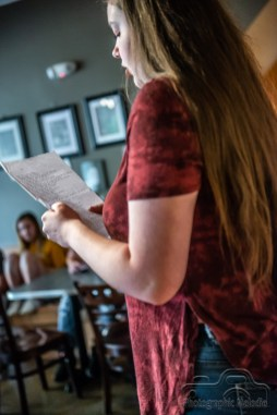 Iconoclast Poetry Open Mic Night at 10 Johnson Avenue Coffee in the Irvington Historic District of Indianapolis, Indiana on August 2, 2018