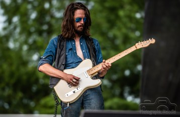 Brandon Whyde & Friends warmed up the stage for Robby Krieger on the Chevrolet Free Stage at the Indiana State Fair on August 18, 2018
