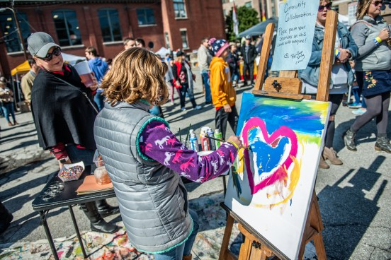 The Athenaeum Foundation supports Re-Generation Indy by donating space for art workshops and Youth Art Shows, and this collaboration is a thank you gift for Executive Director Cassie Stockamp at the 10th Annual German Fest at the Athenaeum on October 13, 2018