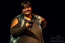 Many talented artists performed phenomenal sets before the Indianapolis Poetry Slam hosted by Dante Fratturo at the Irving Theater on October 18, 2018