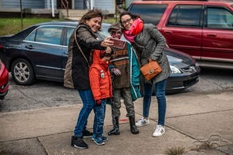 Participants enjoy the annual Broad Ripple Zombie Walk to benefit Gleaners Food Bank on Saturday, Oct. 20, 2018