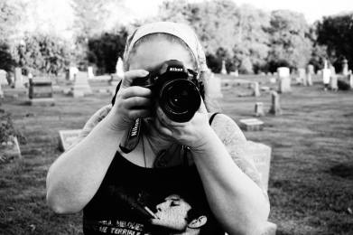 Melodie covering Vigil 2015 in Lafayette, Indiana. Photo courtesy of Joon Wolfsberg