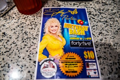 Many braved the icy weather for the fantastic 8th Annual Dolly Parton Birthday Bash benefiting Dolly Parton's Imagination Library at FortyFive Degrees on January 19, 2019