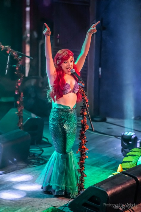 The Little Mermen turned Disney devotees into part of their beautiful world with a magically mesmerizing performance at The Vogue Theatre on Friday, October 1, 2019. Photo cred Melodie Yvonne.