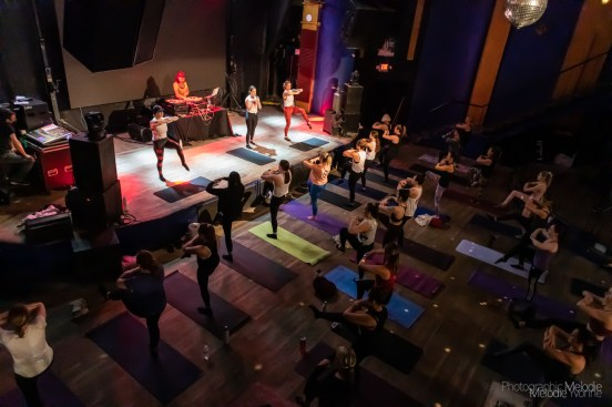 The Pure Barre Pop-Up at The Vogue Theatre was a phenomenal power sweat sesh with an amazing live DJ, post-class cocktails and more on Saturday, April 24, 2021. Photo cred Melodie Yvonne