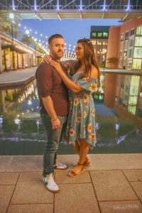 It was an exciting Engagement Session odyssey along the famous Canal Walk in Indianapolis, Indiana. Photo cred Melodie Yvonne