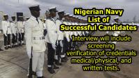 Nigerian Navy List of Successful Candidates