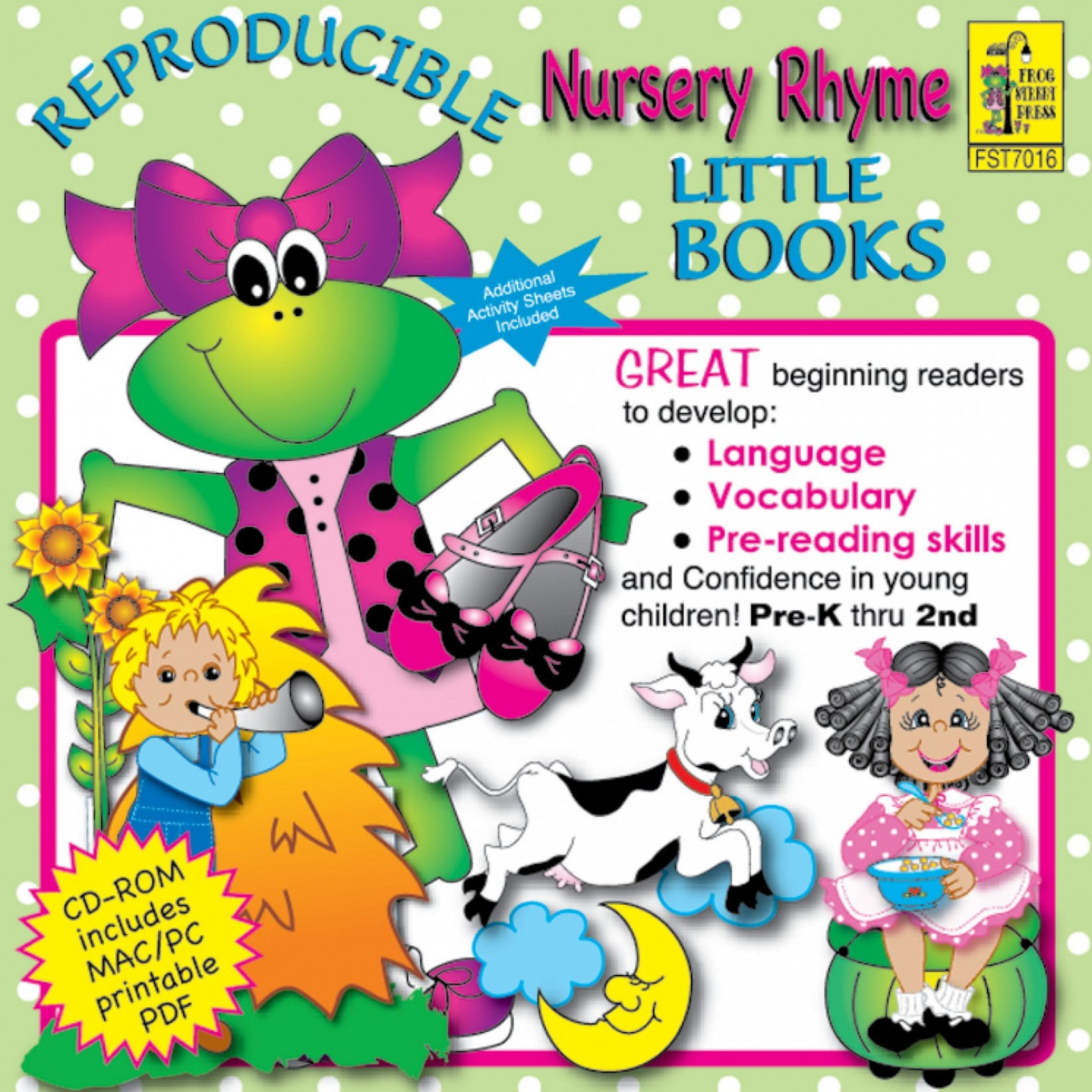 Nursery Rhymes Reproducible Little Books Cd Rom Melody House Music