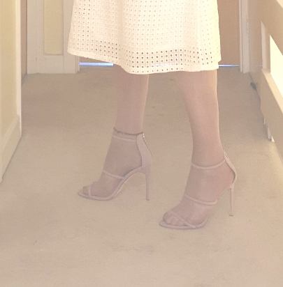 Thin Lilac Strappy Sandals