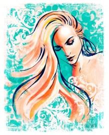 Fashion illustration high style art by Melody owens