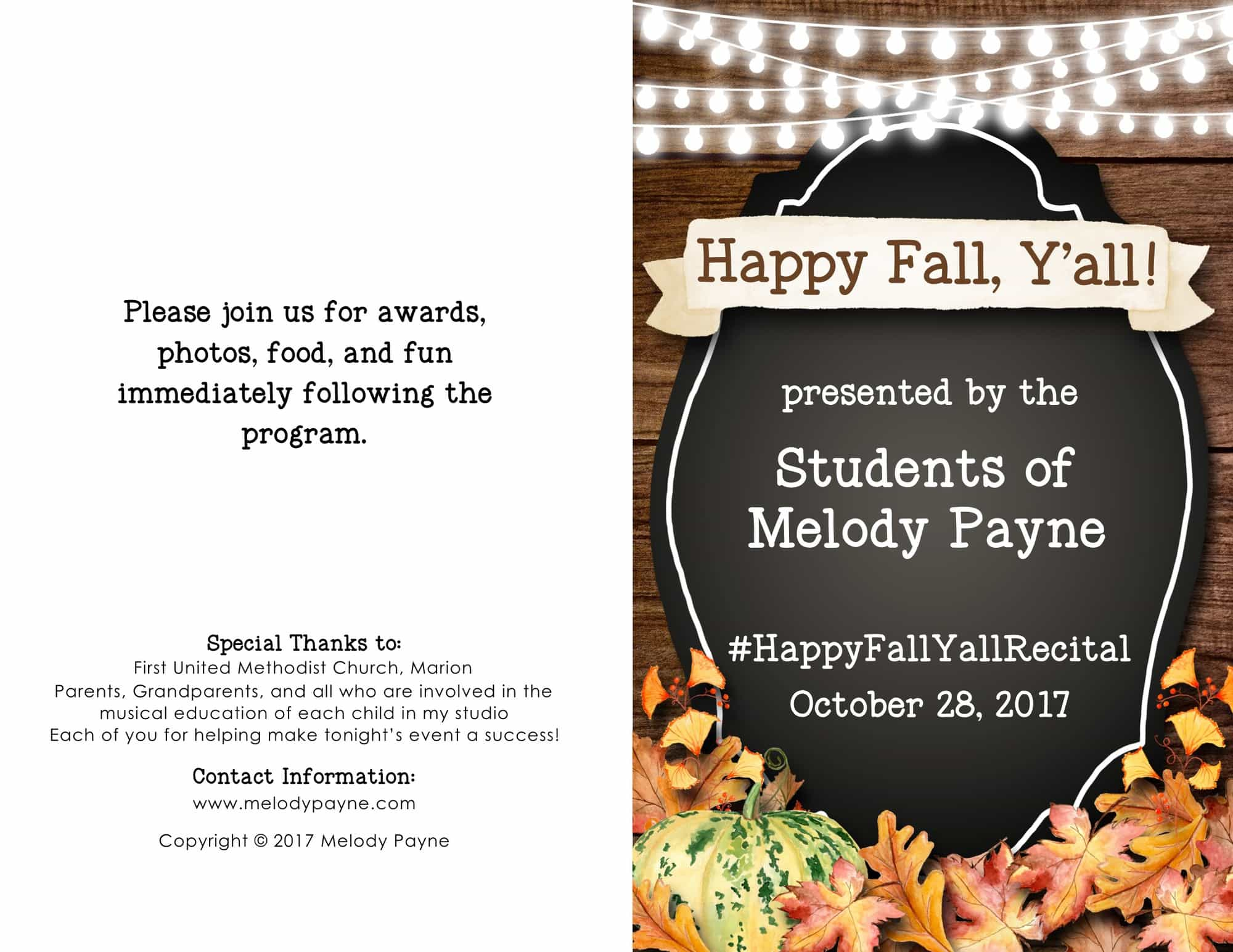 2017 Fall Recital Program blog Cover