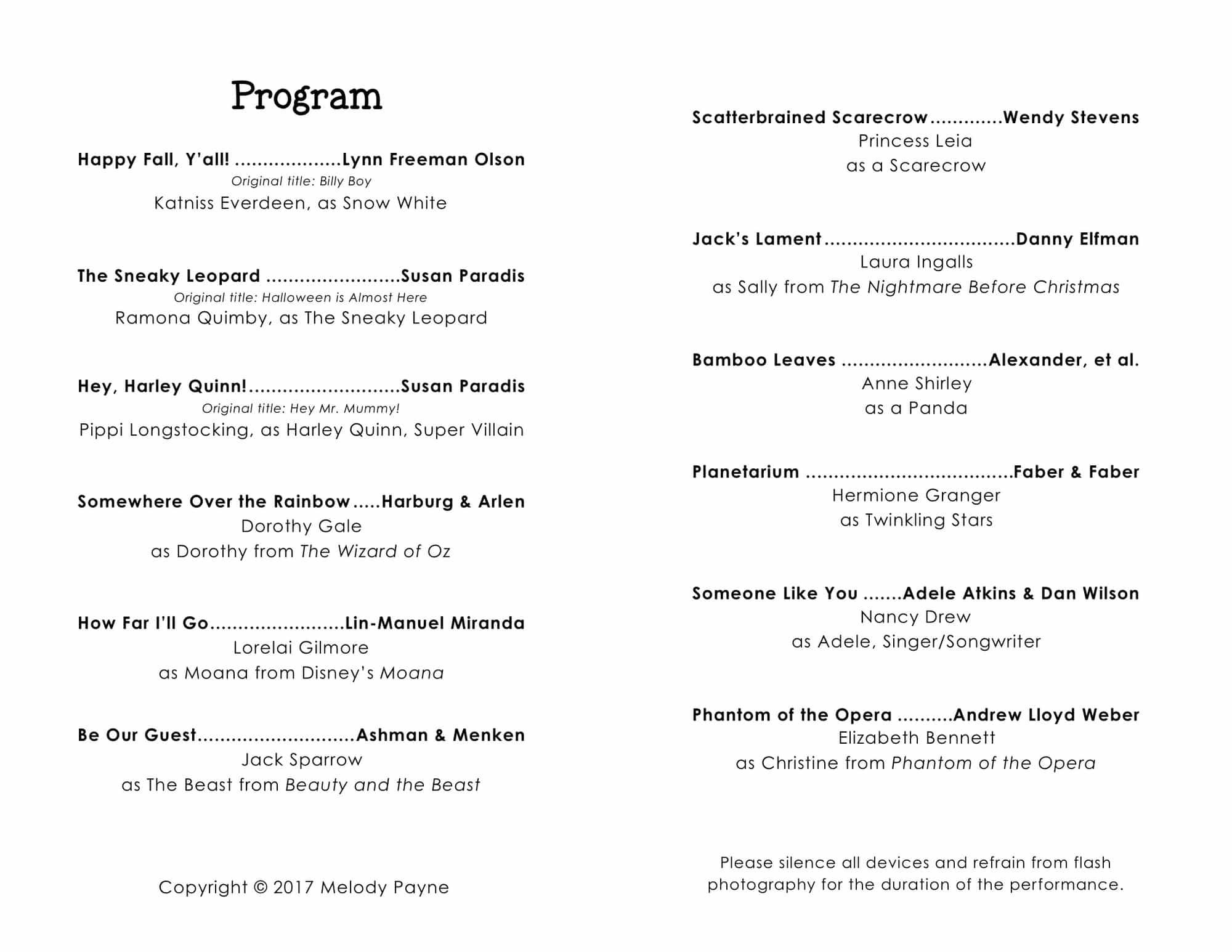 christmas concert program templates
