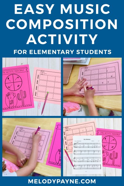 Easy Composition Activity for Beginning Piano Students