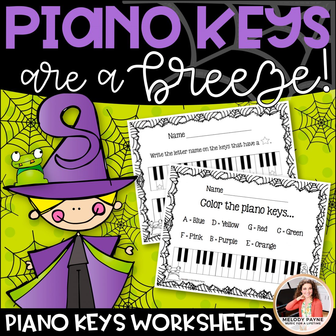 Piano Keys Are A Breeze Halloween Worksheets