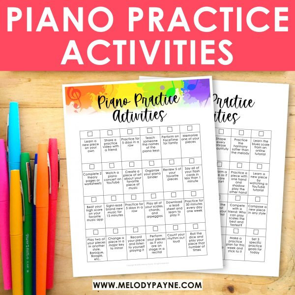 At Home Piano Practice Activities