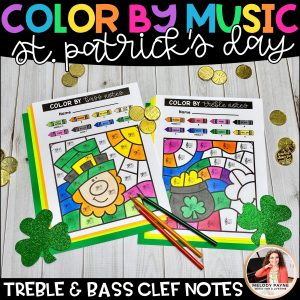 Color by music for St. Patrick's Day