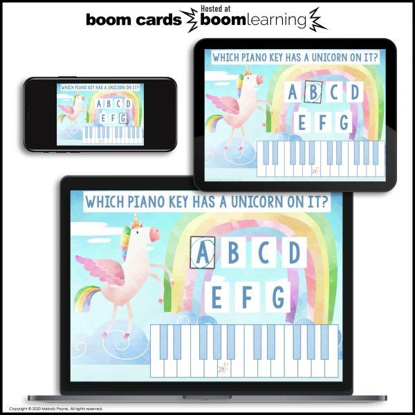 BOOM Cards: White Piano Keys by Melody Payne www.melodypayne.com